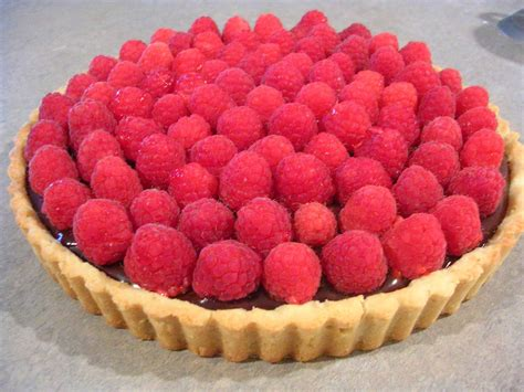 chocolate raspberry tart raspberry chocolate tart recipe dishmaps