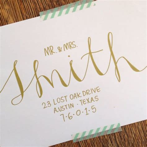 Wedding Font For Envelope by Wedding Calligraphy Envelope Addressing By