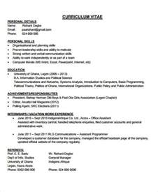 Resume Sles For Phd Freshers 31 Cv Format Templates Free Premium Templates