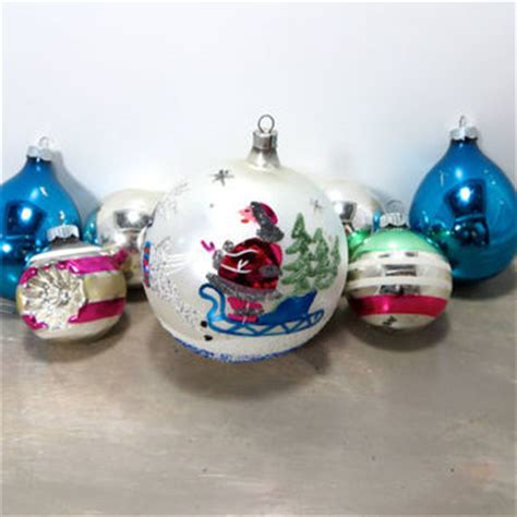 shop vintage shiny brite glass christmas ornaments on wanelo