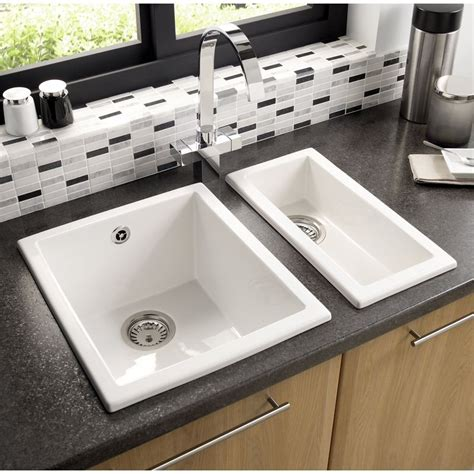 Kitchen Faucets Online by Astracast Onyx 1b Inset Undermount Kitchen Sink Gloss White