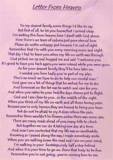 up letter poem 255 best images about missing you in heaven on