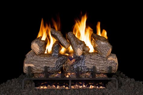 gas burning fireplace logs r h peterson chd 2 18 seethru 18 quot charred oak logs only does not include burner for use in