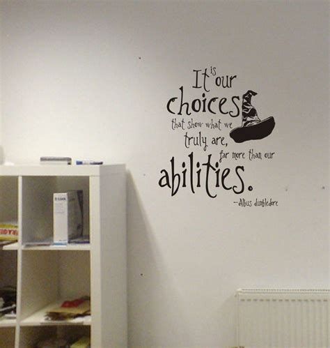 harry potter wall stickers harry potter our choices quote vinyl wall decal lettering