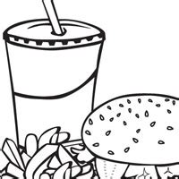 bad fast food pages coloring pages