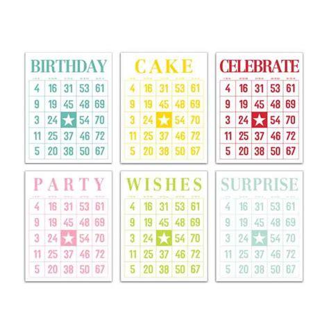 printable birthday bingo cards birthday bingo cards project life printables pinterest