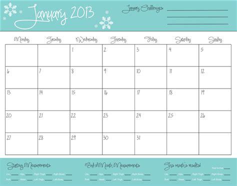 fitness monthly calendar calendar template 2016