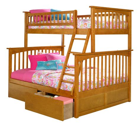 bunk bed deals atlantic furniture columbia caramel latte twin over full