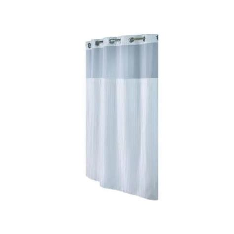 shower curtains home depot hookless shower curtain in white herringbone rbh53my306
