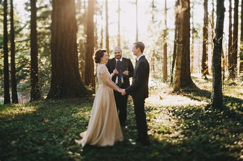 wedding ceremony after eloping portland oregon elopement by http dylandsara