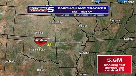 earthquake oklahoma major m5 6 earthquake hits oklahoma felt from north