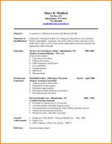 professional medical resume format