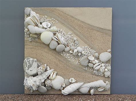 seashell home decor nautical home decor beach shell art nature materials art