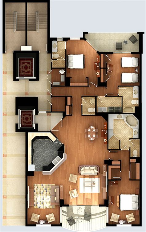 rendered floor plans floor plans elevations genesis studios inc