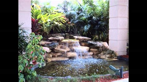 creative small garden waterfall design ideas