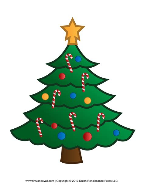 Printable Paper Christmas Tree Template and Clip Art Free Clipart Of Christmas Tree
