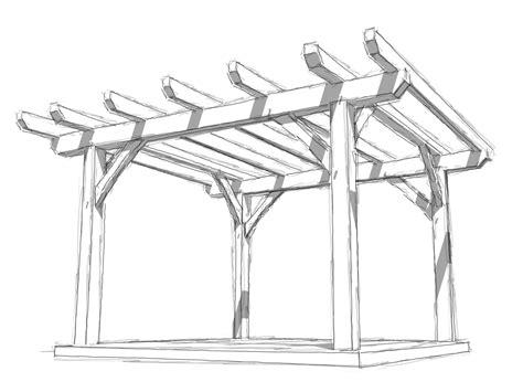 Long Skinny House Plans by The Skinny On Timber Frame Pergolas Timber Frame Hq