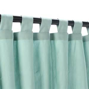 Curtains With Tabs Mist Tabbed Sunbrella Outdoor Curtains