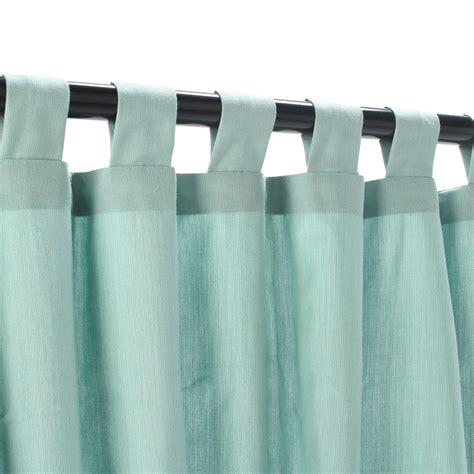 tabbed curtains curtains with tabs sunbrella spectrum dove outdoor