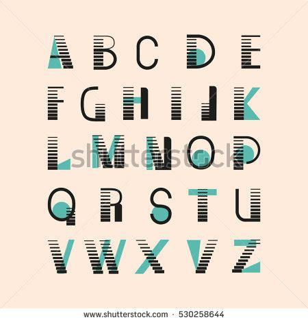 design system e font modern geometric font type twocolor english stock vector