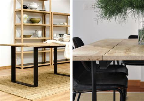mesas de comedor estilo industrial materiales macizos y dise 241 os lineales en nuestros