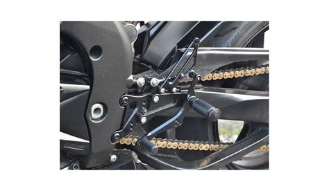 pedane per moto pedane arretrate regolabili per kawasaki er6 2012 2016