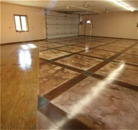 Concrete Garage Floor Cost by Concrete Floors Staining And Dyeing Articles