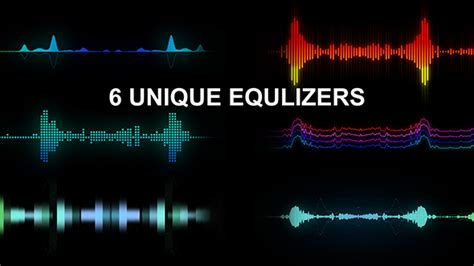 6 Unique Equalizers By Uritesler Videohive After Effects Equalizer Template