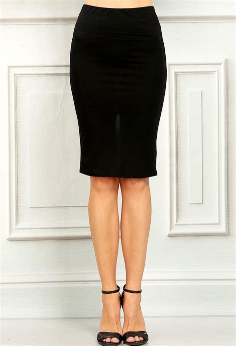 Slit Pencil Skirt basic back slit pencil skirt shop skirts at papaya