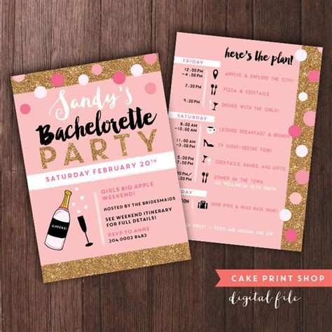 12 Use With Zazzle Bachelorette Weekend Invitation With Itinerary Bachelorette Itinerary Bachelorette Weekend Template