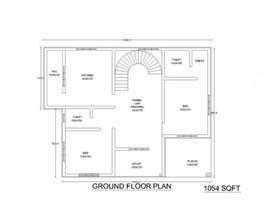 plan of 2bhk house two low cost 2bhk independent single story house plan 870