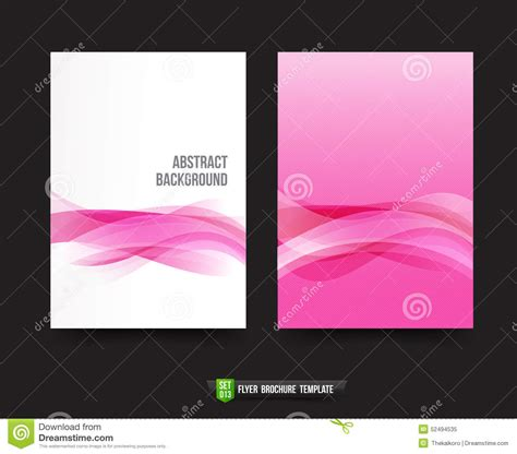 Flyer Brochure Background Template 013 Light Pink Curve