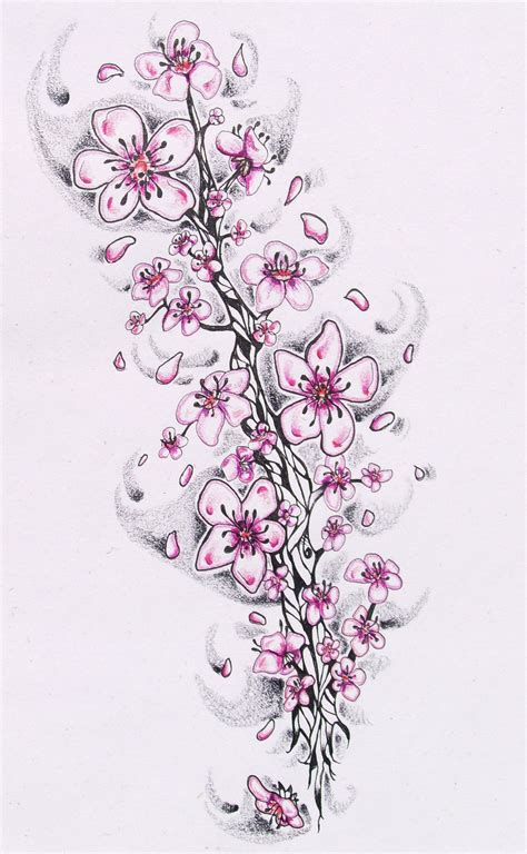 Three Cherry Blossom By Sophiedragon On Deviantart Cherry Blossoms Designs