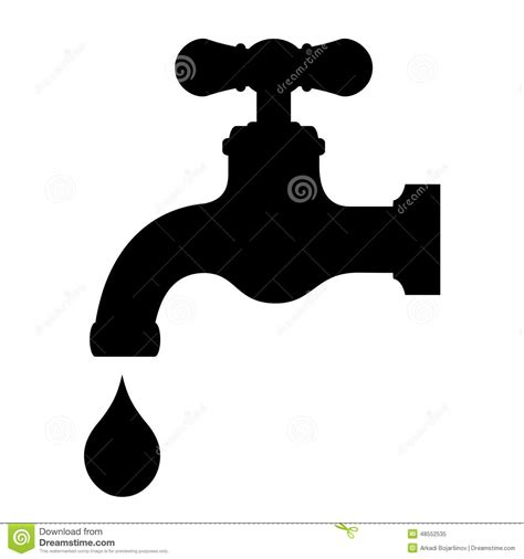 Water Faucet Vector by Vector Water Tap Stock Vector Image 48552535