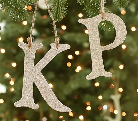 Letter Tree Decorations by Glitter Alphabet Letter Ornaments Pottery Barn