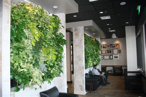 Living Wall Indoor Peets Coffee Indoor Tropical Green Wall