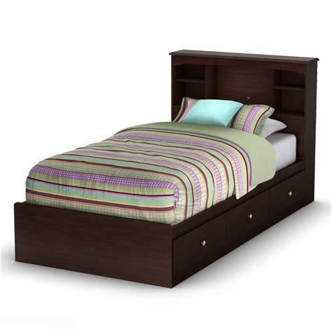 twin size bed with drawers axon twin size platform bed with 3 storage drawers in
