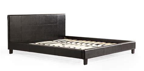 king leather bed frame king pu leather bed frame black