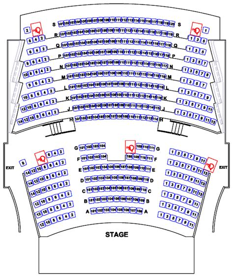 auditorium seating chart de anza college rent the visual performing arts