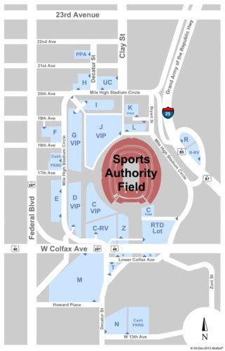 sports authority seating capacity sports authority field at mile high parking lots tickets