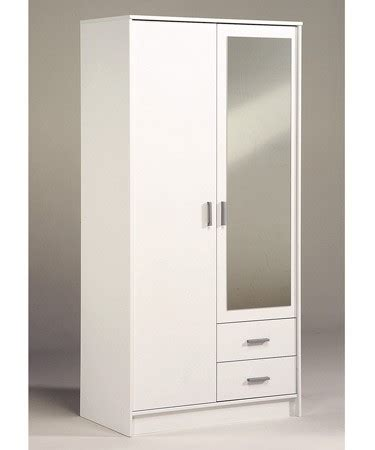 White Wardrobe With Drawers And Mirror by Wardrobes