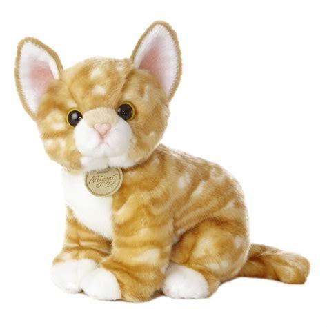 cat stuffed animals realistic stuffed orange kitten 10 inch plush tabby cat by