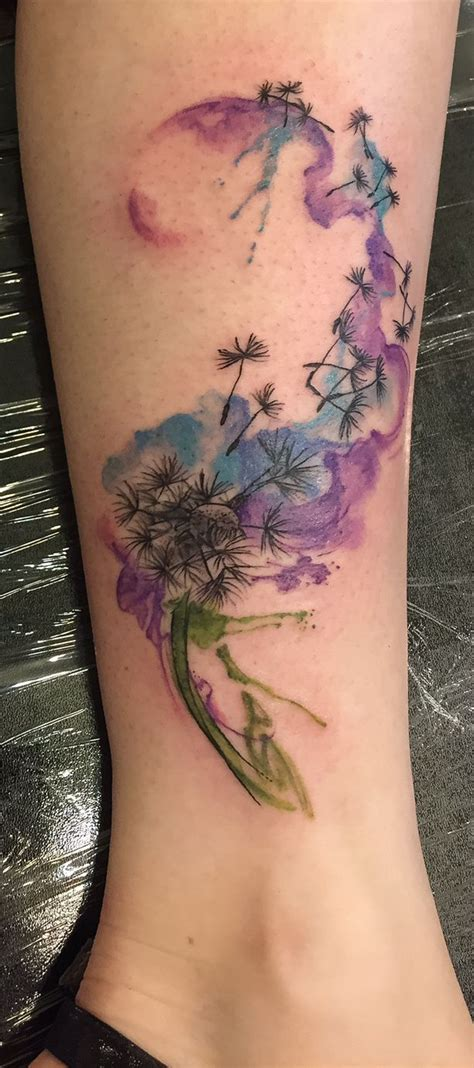 watercolor dandelion tattoo the 25 best watercolor dandelion ideas on