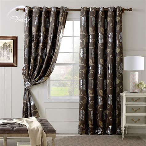 contemporary print curtains brown print modern print curtains floral patterns