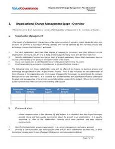 project change management plan template pm002 02 organizational change management plan