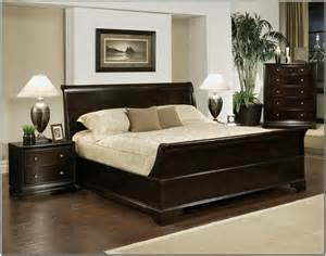 King Size Bed Frame And Dresser Black Stained Wooden Bed Frame With Storage And Drawers