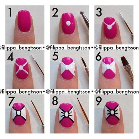 chagne color bow tie easy bow tie nail tutorial