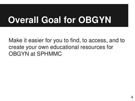 sphmmc free information resources for obgyn
