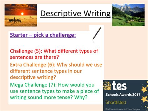descriptive writing about new year descriptive writing creative writing language