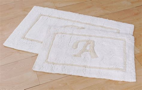 Monogrammed Rugs by Monogram Bath Rugs Set Of 2 Overstock Shopping The
